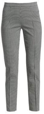 Akris Punto Franca Mini Grid Jacquard Ankle Pants