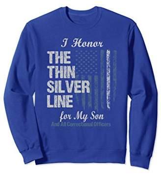 Thin Silver Line Son Correctional Officer Sweatshirt
