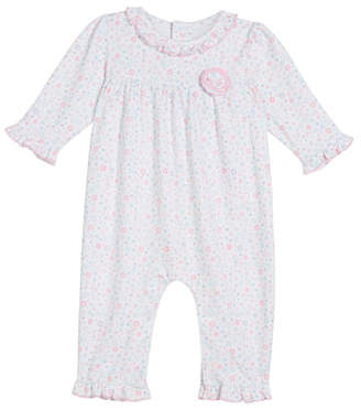 Kissy Kissy Eloquent Elephants Pima Ruffle-Trim Coverall, Size 3-24 Months