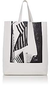 Calvin Klein Men's Soft Leather Tote Bag - White