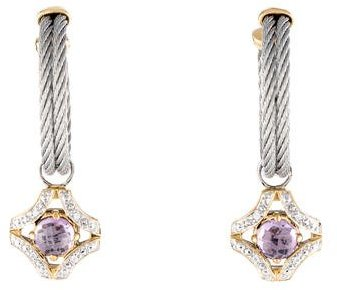 Charriol Charriol Amethyst & Diamond Drop Earrings