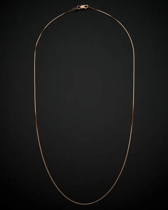 14K Italian Rose Gold Box Chain Necklace