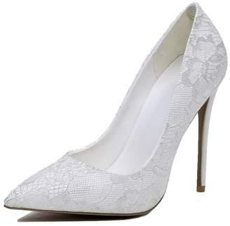 c543e8e37ca CCBubble Stiletto Lace Wedding Shoes Women High Heels Ladies Shoes- US9