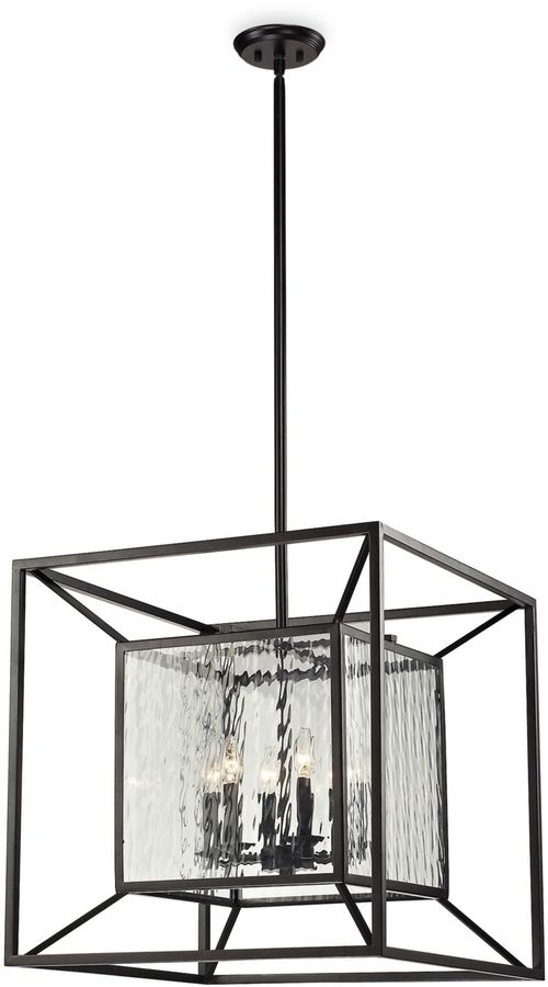 Bed Bath & Beyond 6-Light Pendant Lamp in Oiled Bronze