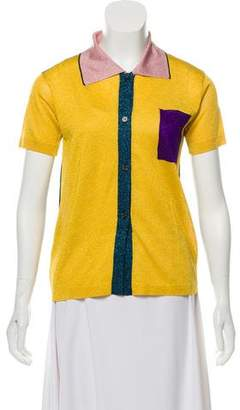 Marni Metallic Collared Shirt