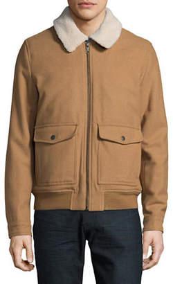 Tommy Hilfiger Sherpa Collar Wool-Blend Jacket