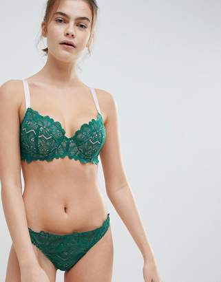 Asos DESIGN FULLER BUST Amelia Paisley Lace Padded Underwire Bra