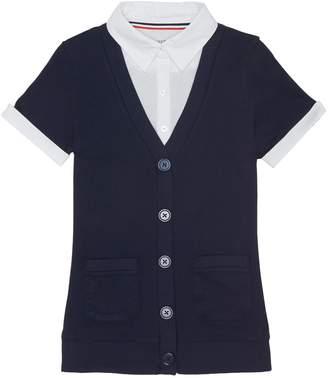 Girls 4-20 & Plus Size French Toast School Uniform Mock-Layer Cardigan Top