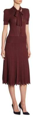 Ralph Lauren Collection Silk Lace Knit Dress