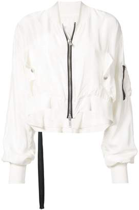 Unravel Project cropped lightweight jacket