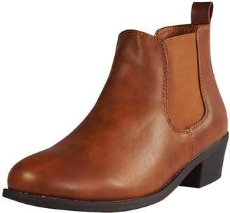 Refresh Tildon-02 Womens Almond Toe Simple Flat Heel Ankle Riding Booties