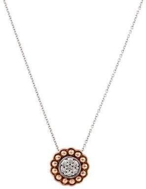 Laura Ashley Diamond Floral Pendant Necklace