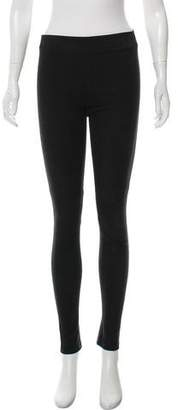 Vince Leather Mid-Rise Skinny Pants