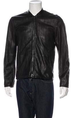 John Varvatos Textured Leather Jacket