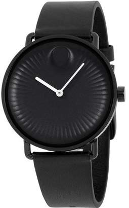Movado Men's 40mm Black Silicone Band Steel Case Sapphire Crystal Quartz Analog Watch 3680039