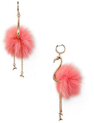Kate Spade Flamingo Statement Drop Earrings