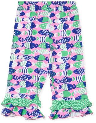 Flap Happy Tiered Ruffle Cotton Capri Pants