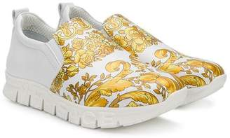 Versace baroque-print slip-on sneakers