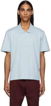 Thom Browne Blue Relaxed Fit Polo