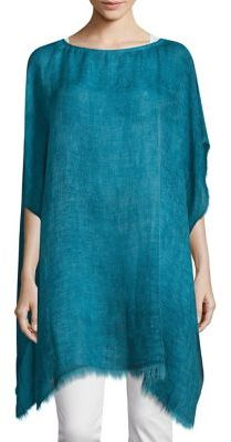 Eileen Fisher Fringed Boatneck Poncho $188 thestylecure.com