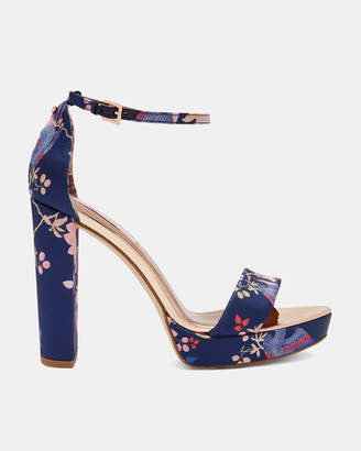 Ted Baker JUNAAA Chinoiserie Jacquard platform sandals