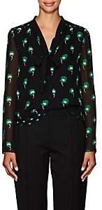 Proenza Schouler Women's Floral Silk Chiffon Blouse - Black Multi