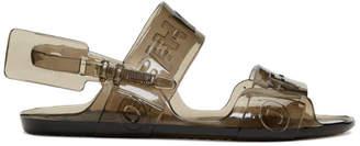 Off-White Black Jelly Zip Tie Sandals