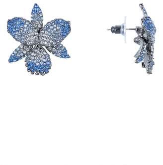 Nina Pave Crystal Flower Stud Earrings