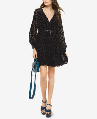 Michael Kors Metallic Burnout Dress