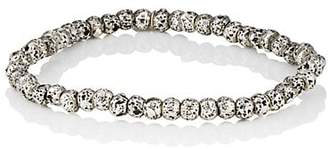 Barneys New York Men's Sterling Silver Lava Rock Bracelet - Silver