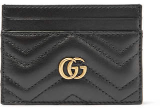 Gucci Gg Marmont Quilted Leather Cardholder - Black