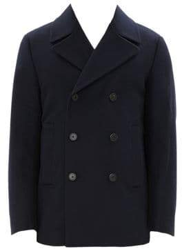 Theory Orchard Double-Breasted Wool-Blend Peacoat