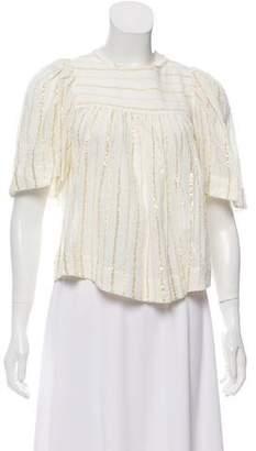 Etoile Isabel Marant Metallic Short-Sleeve Blouse