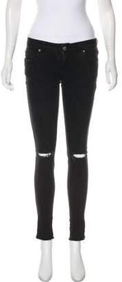 Anine Bing Low-Rise Skinny Jeans