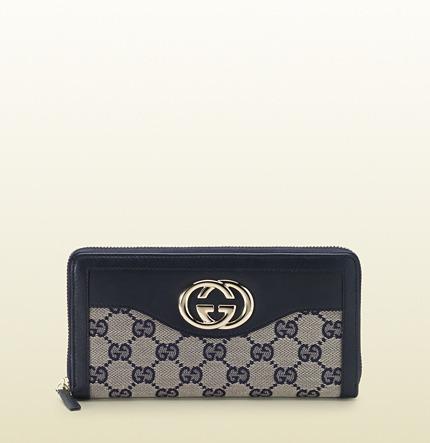 Gucci sukey original GG canvas zip around wallet