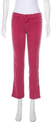 Mother Mid-Rise Straight-Leg Jeans