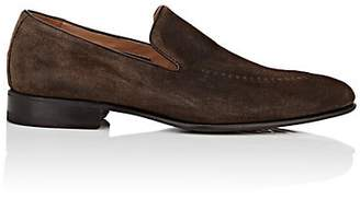 Harris Men's Stitch-Detailed Suede Venetian Loafers - Dk. brown
