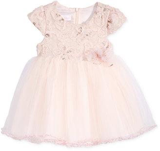 Bonnie Baby Baby Girls' Soutache-Bodice Dress $70 thestylecure.com
