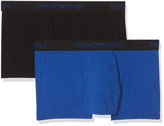 Emporio Armani Men's 2-Pack Trunk/Retro Shorts,Large