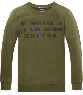 Scotch & Soda Graphic Long Sleeve T-Shirt