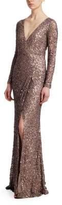 Rachel Gilbert Trixie Sequin Mermaid Gown