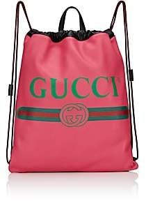 Gucci Men's Logo Drawstring Backpack - Pink