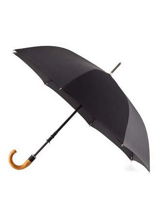 ShedRain Stratus Chrome 70000 Umbrella with Wooden Handle, Black
