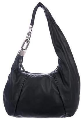 e1594fdbacba Michael Kors Leather Chain-Link Hobo