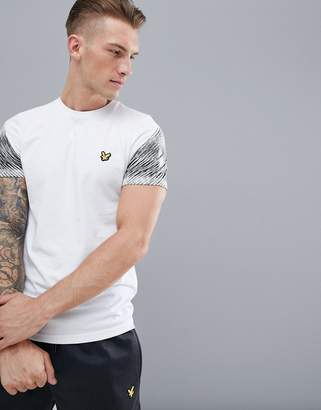 Lyle & Scott Fitness fitness whitfell graphic sleeve logo t-shirt in white