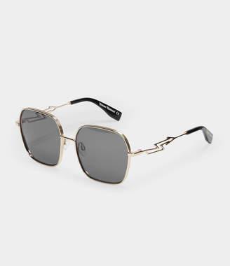 d9f0ab039f0 Vivienne Westwood Oversized Square-Frame Sunglasses Golden Tone