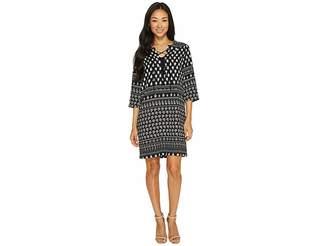 Karen Kane Lace-Up 3/4 Sleeve Dress Women's Dress