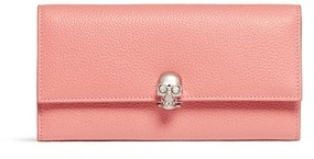 Alexander McQueen Alexander McQueen Skull charm leather French wallet