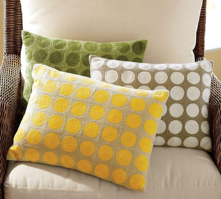 Crewel Dot Pillow