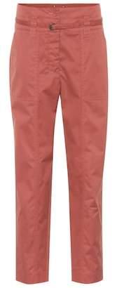 Bottega Veneta High-waisted cotton-blend pants